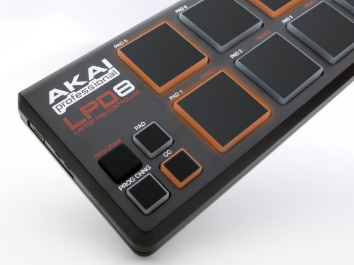 Akai Professional LPD8 Ultra-Portable USB Pad Controller for Laptops