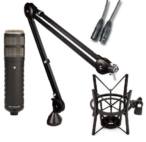 Rode Procaster Booming Kit: Procaster, PSA1, PSM1, and 10' XLR cable
