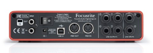 Focusrite Scarlett 6i6 6 In/6 Out USB 2.0 Audio Interface With Two Focusrite Mic Preamps
