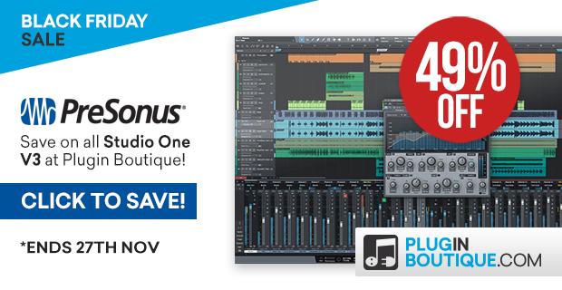 Presonus Studio One 3 Black Friday Sale