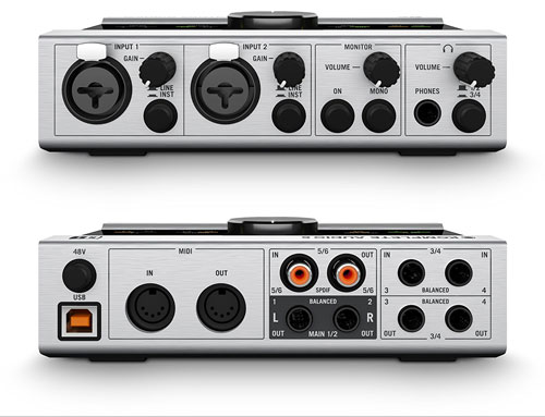Native Instruments Komplete Audio 6 Audio Interface front and rear views