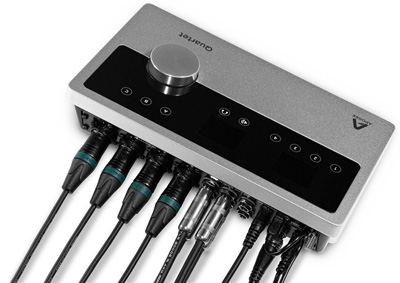 apogee quartet audio interface connections